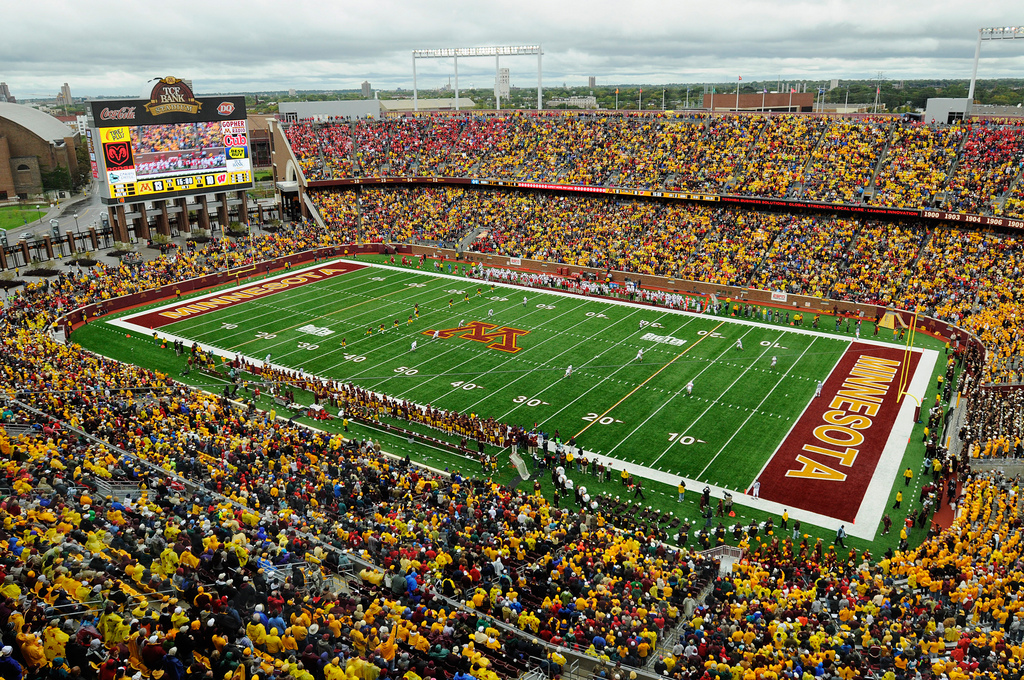 Minnesota Football Stadium Tcf Bank Stadium Big Ten
